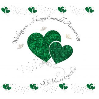 Wishing you a Happy Emerald Anniversary Greeting Card