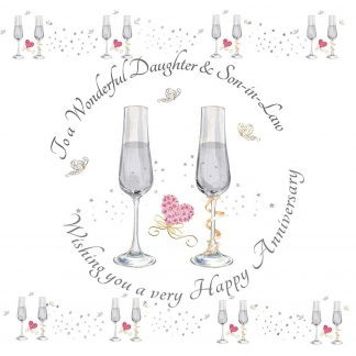To a Wonderful Daughter & Son-in-Law Anniversary Greeting Card