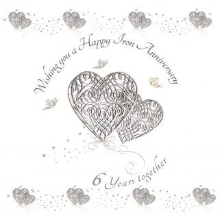Wishing you a Happy Iron Anniversary Greeting Card