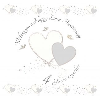 Wishing you a Happy Linen Anniversary Greeting Card