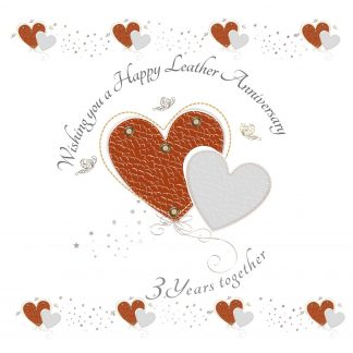 Wishing you a Happy Leather Anniversary Greeting Card
