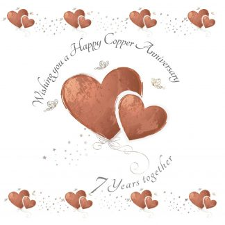 Wishing you a Happy Copper Anniversary Greeting Card