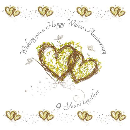 Wishing you a Happy Willow Anniversary Greeting Card