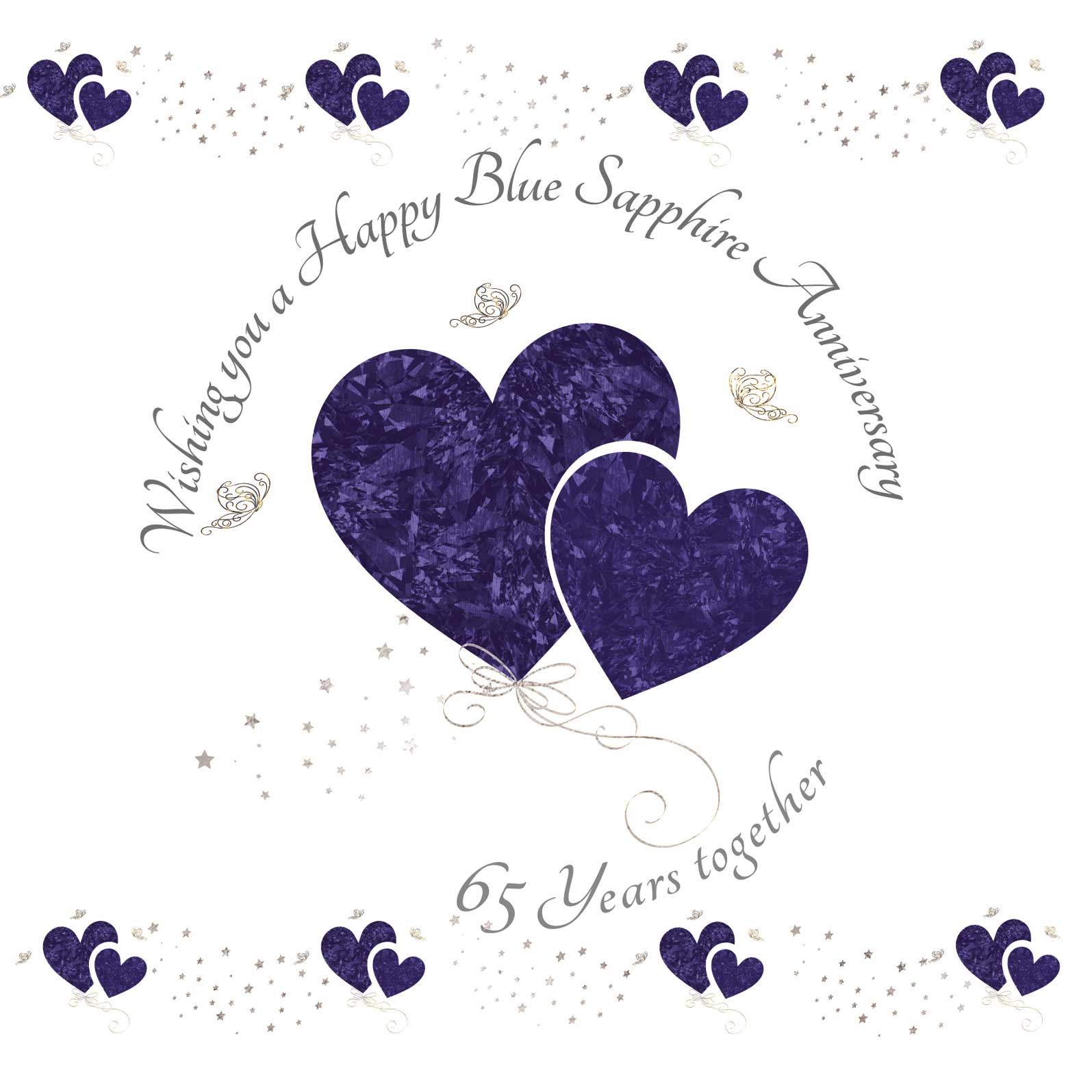 Wishing you a Happy Blue Sapphire Anniversary Greeting Card