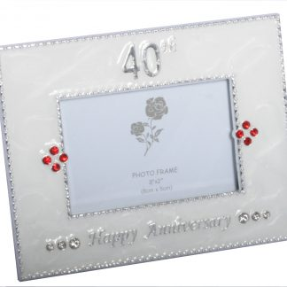 40th Happy Anniversary Photo Frame