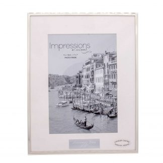 Impressions Silver Fine Edged Frame with Personalised Plaque Mount