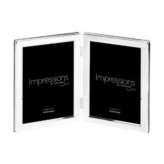 "Impressions Silver plated Double 5"" x 7"" Photo frame"