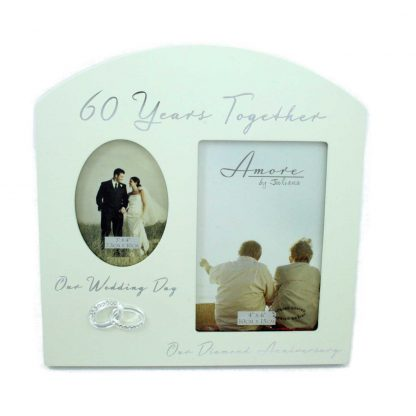 Amore Diamond 60th Anniversary Wedding Gifts Then Now Photo Frame - 6x4