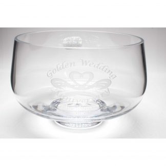 Golden Wedding Anniversary Commemoration Bowl