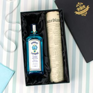 Bombay Sapphire and historic newspaper gift set