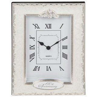 Celebration Diamond 60th Anniversary Clock by Shudehill giftware