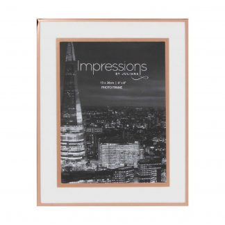 "Impressions Copper Finished Photo Frame with Copper Bordered Mount 6"" x 8"""