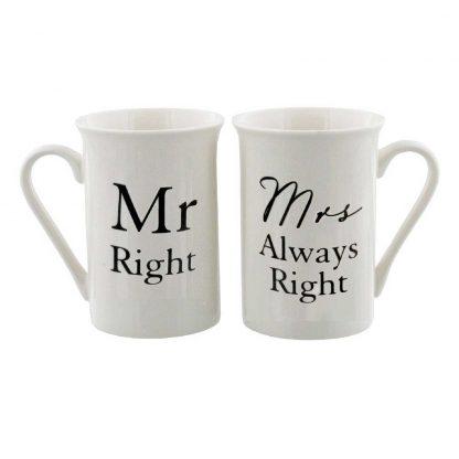 Mr Right, Mrs Always Right Mugs Gift Set