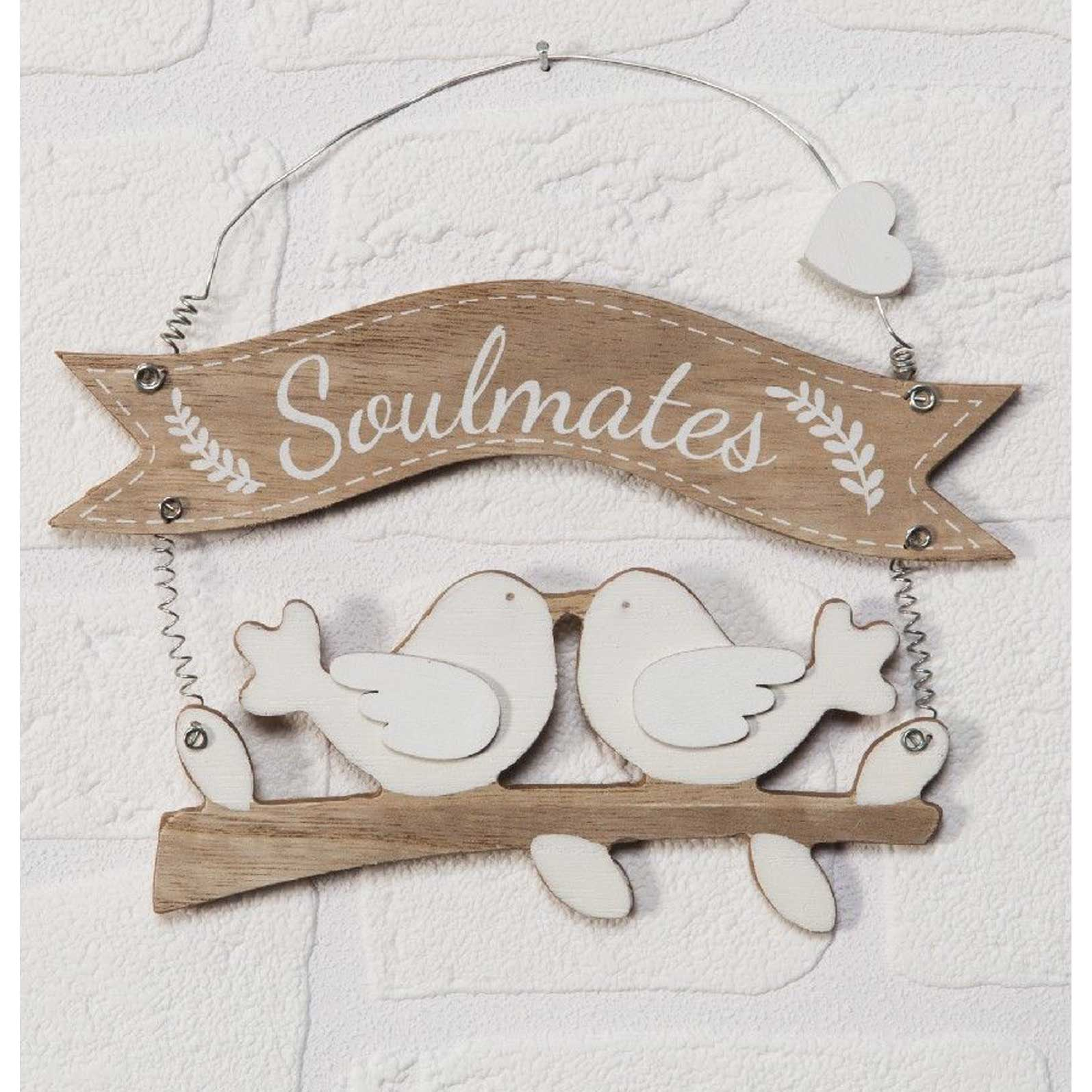 Celebrations Love Story Collection - Soulmates Wooden painted Plaque.
