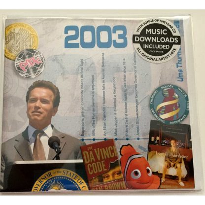 Anniversary or Birthday gift ~ Hit Music CD from 2003 & Greeting Card