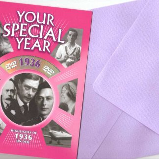 85th Birthday or Anniversary DVD Greeting Card - 1936 by New Media Greetings