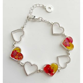 Eternal Flower Hearts Silver plated Bracelet by equilibrium