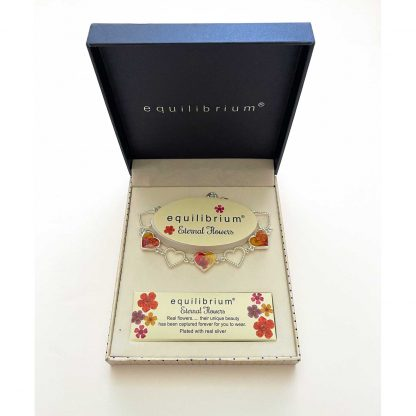 Eternal Flower Hearts Silver plated Bracelet by equilibrium boxed