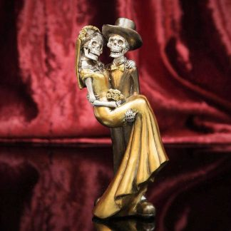 Day of the Dead - Bronze Newlywed Couple Bronze colour Figurine - 20cm tall 63044