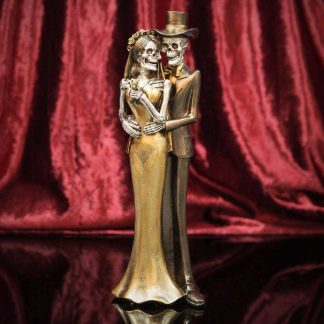 Day Of The Dead Newlyweds Standing Bronze Figurine 63045