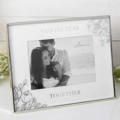 """1st Anniversary Together Amore Photo Frame 5"""" x 7"""""""