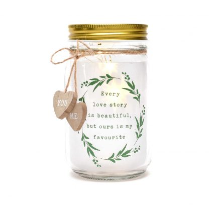 """Love Story Light Up Jar """"Ours Is My Favourite"""""""