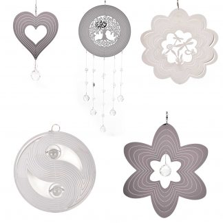 Country Living Metal and Crystal Wind Spinners - Various Designs