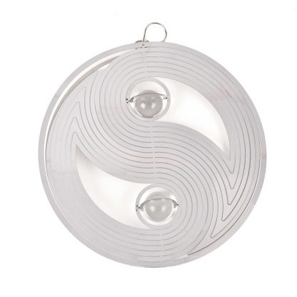 COUNTRY LIVING YIN AND YANG GARDEN SPINNER WITH CRYSTAL