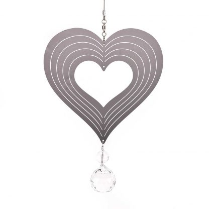 COUNTRY LIVING HEART METAL WIND SPINNER