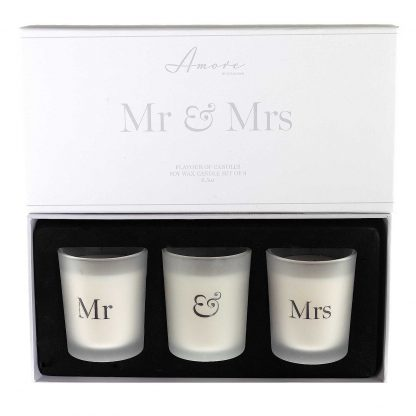 Amore Mr & Mrs Scented Votive Candle Gift Set