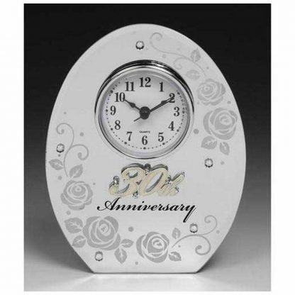 30th Wedding Anniversary Mirror and Clock Gift by Shudehill giftware 183173548940