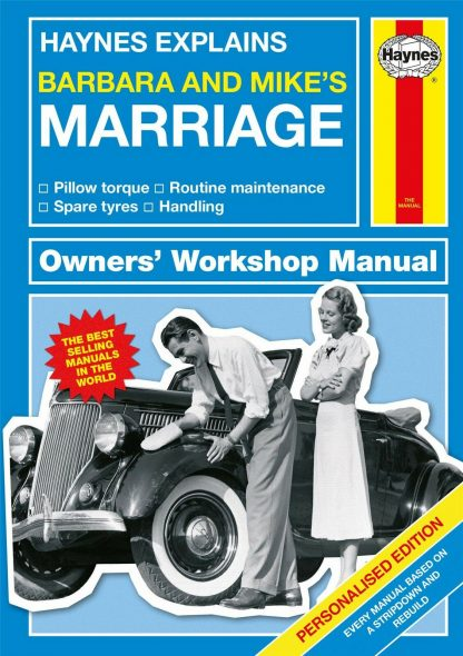 1st Anniversary Gifts - Personalised Haynes Explains Marriage Manual