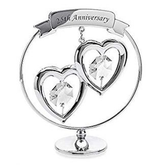 Silver Wedding 25th Anniversary Chrome celebration circle